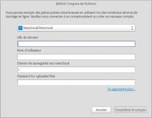 Nextcloud for filelink thunderbird integration